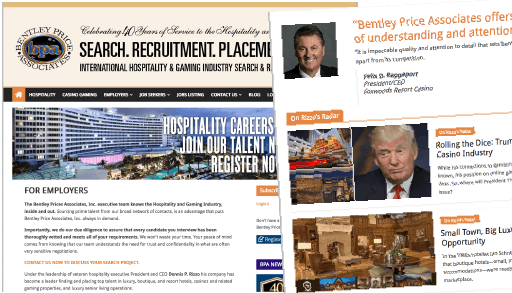 Bentley Price Associates website design