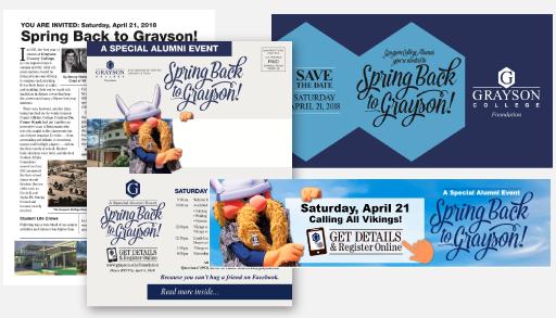 Grayson College Spring Back Campaign