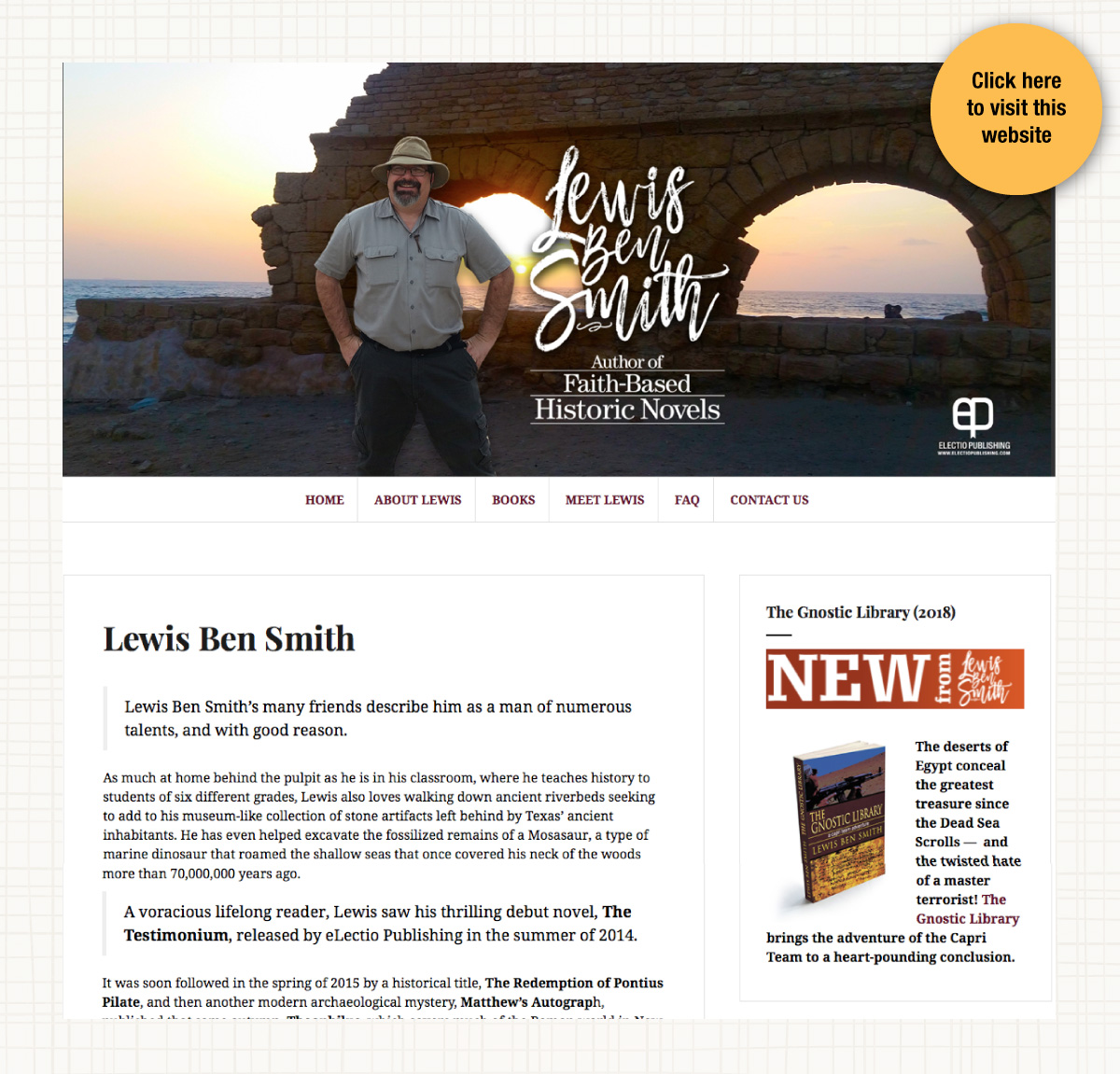 Website for author Lewis Ben Smith