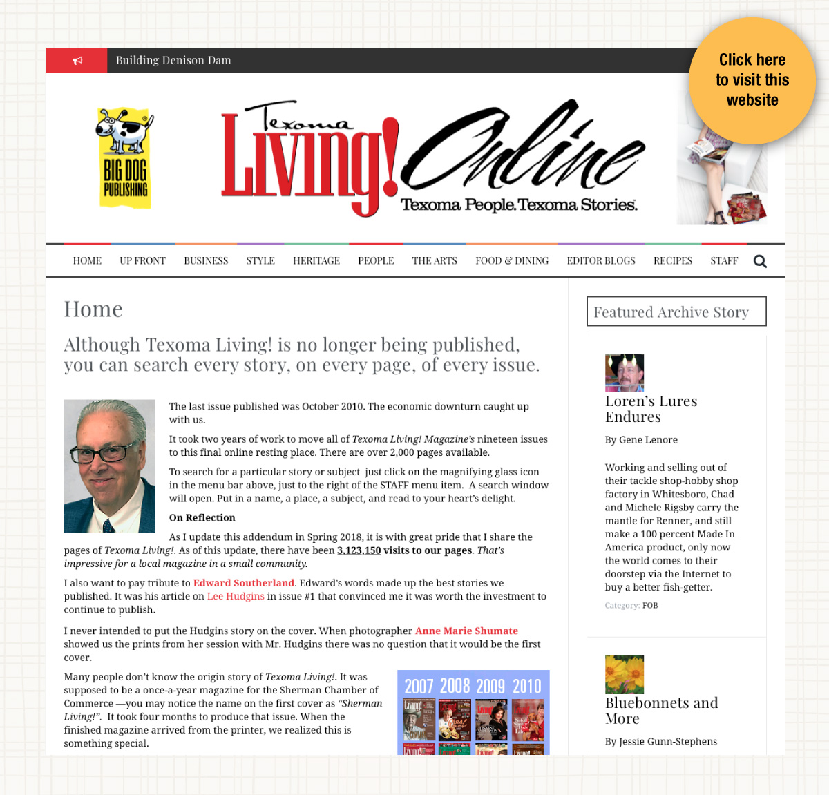 Website for Texoma Living Magazine